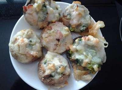 Punjene pečurke sa brokolijem