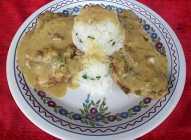 Svinjski vrat sa pirinčem u sosu