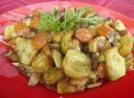 Povrće sa šampinjonima i soja sosom