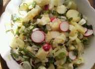 Krompir salata sa rotkvicama i prazilukom