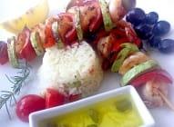 Ražnjići od gambora i povrća