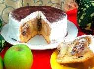 Prevrnuta torta sa jabukama