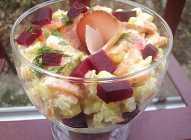 Salata sa šargarepom, kukuruzom i cveklom
