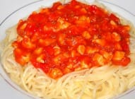 Špageti sa pilećim fileom